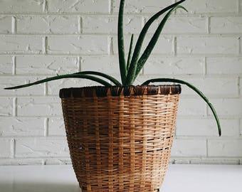 Wicker Bamboo Plant Basket - Decorative Basket Bohemian Boho Planter