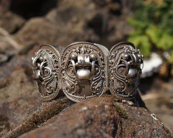 Rangda Balinese Silver Bracelet and Pendant