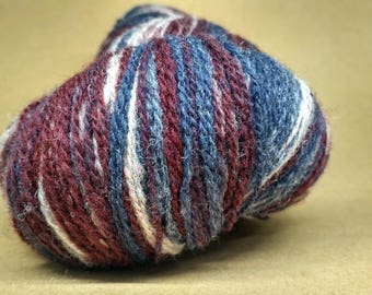 KAUNI 2ply Wool Yarn Color, Self-Striping, Sport Weight, 2ply