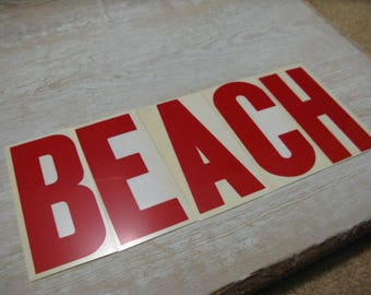 Vintage Marquee Letters BEACH Mid Century for Sign Shelf Table Centerpiece Sea Vignette Mid Mod Nautical Coastal Vibes 5 Letters See IDEAS!