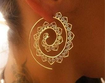 Boho Circle Design Earrings