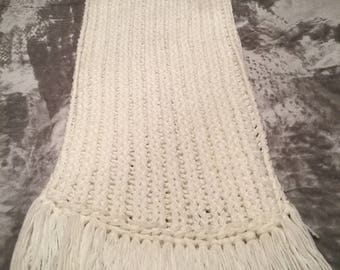 Loom knitted scarf wrap