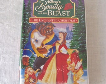Vintage Beauty And The Beast The Enchanted Christmas VHS Tape Walt Disney's Home Video 1990s
