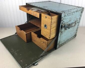 Vintage WWII Military Field Desk - 1944 Military Desk
