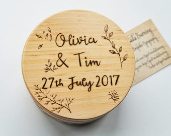 Large wooden pot, hand decorated wooden box,wedding gift idea, 5 year wedding anniverary, wedding anniversary gift, round wooden box, art