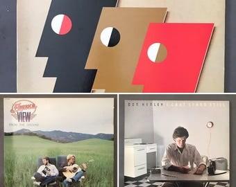 80's Emerson, Lake & Powell, America, Don Henley Vintage Vinyl Record Albums