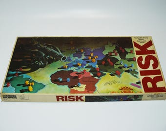 Vintage 1980 RISK Army Strategy Board Game of World Conquest Parker Brothers