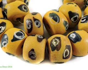 Venetian Trade Beads Yellow African Loose 107653