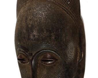 Baule Kpan Mblo Portrait Mask Ivory Coast African Art 109431