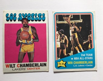 Topps Basketball Cards, Wilt Chamberlain 1971 and '72