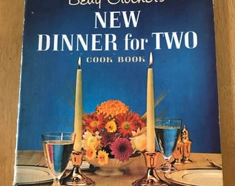 Vintage Betty Crockers New Dinner For Two 1964 Cookbook Spiral