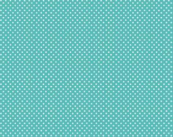 This is a Custom Listing for Janice - 2 yards Aqua dot, 2 yards yellow dot