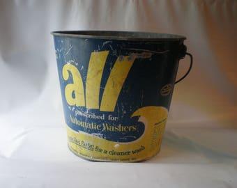 Great Old Vintage ALL Detergent Bucket