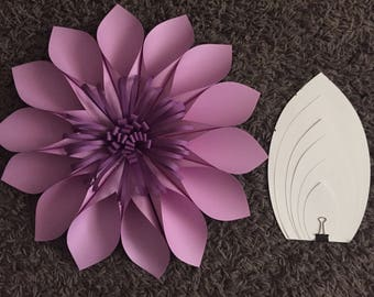 DIY Paper Flower Template #2, Paper flower Backdrop, Hard Copy, Paper Flower Petals