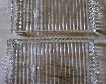 Vintage Pressed Glass Hazel Atlas Snack Plates