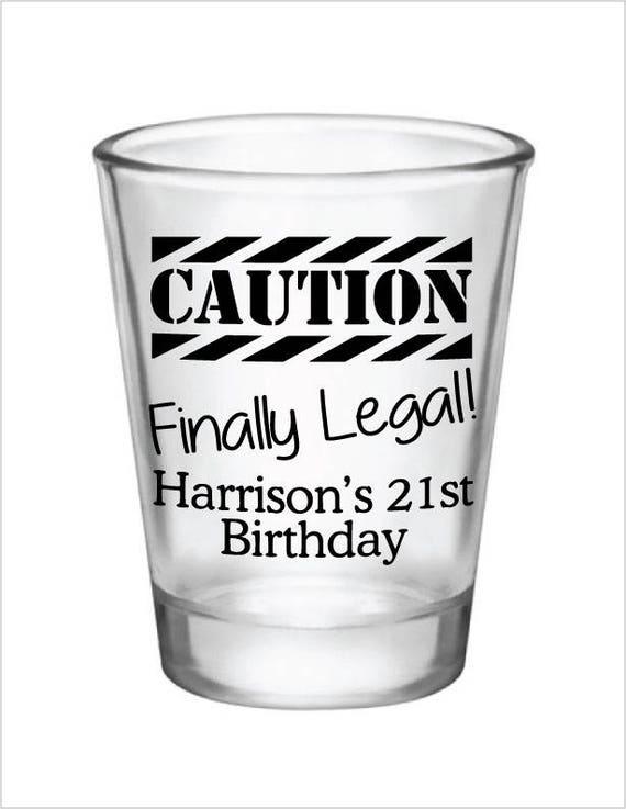 St Birthday Personalized Shot Glasses