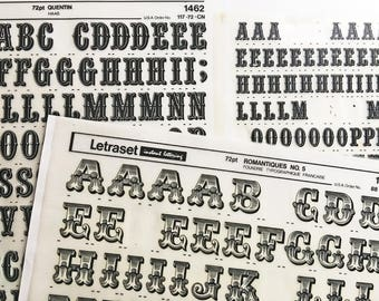 Quentin 48 is a  Vintage Letraset Instant Lettering Rub Off Alphabet Sheets