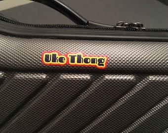 Uke Thong Sticker - YelloSub Font - Set of 3