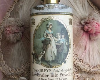 A Lovely Litho Tin For Yardley's Talc Powder