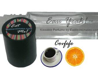 Eau Yeah!™ Kissable Roll On Perfume - Covfefe Orange Coffee Natural Vegan Fragrance, Citrus Fruit Coffee Scent
