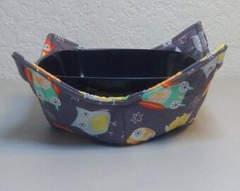 Potholder Bowl/Cozy - Colorful Owls  (0200-95)