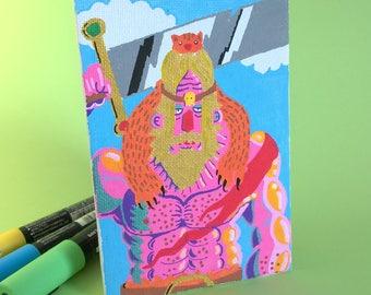 Barbarian, Acrylic on board canvas, 10 x 15 cm