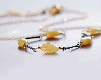 Ethiopian Opal Necklace by Agusha. Opal Choker