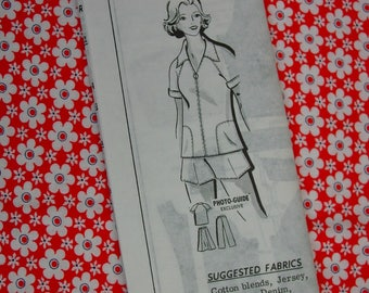 Vintage Pattern c.1960's Mail Order No.8194 Shorts, Pants, Jacket, Skirt Size 12 1/2, Uncut