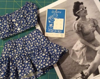 """American Made Girl Doll Clothing-1940's Hawaii Retro Top and Skirt for 18 Inch Dolls Will Fit Robert Tonner's """"My Imagination™"""" and More"""