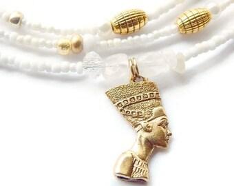 Nefertiti Womb Wellness Waist Beads, Moonstone Feminine Waistbeads, African  Belly Chains, Ancient Egyptian Queen Jewelry