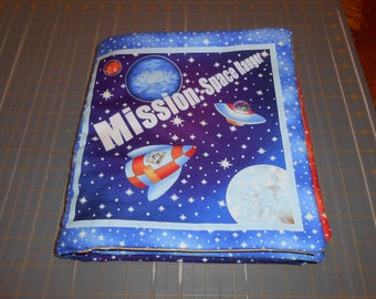 Mission Space Ranger Quiet Soft Cloth Baby Toddler Story Book Handmade Ready to Read