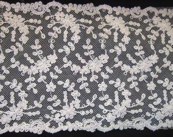 "8 plus yards antique lace 5"" wide brides wedding gowns sewing gorgeous lace"
