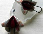 Ceramic Flower Dangle Connectors #3