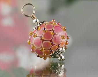 Ruby Rose Byzantine Pendant