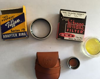 Tiffen Filter, Adapter Rings, Ednalite with Leather Case