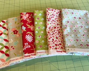 Vintage Picnic/Hello Darling Fat Quarter Bundle by Bonnie and Camille for Moda - 6 FQs
