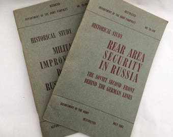 Dept of Army Booklet July August 1951 No. 20-240 No. 20-201 WW2 Millitary Russia