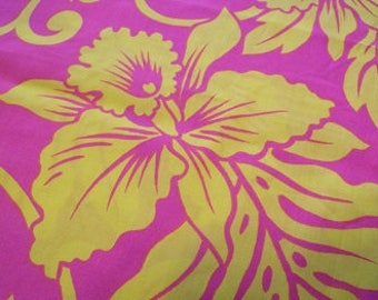Bright Pink and Yellow fabric