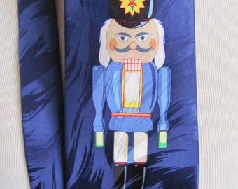 Keith Daniels - Mens Dark Blue Nutcracker Silk Neck Tie Designer 4 x 60