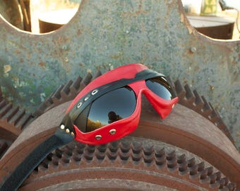 hand made leather goggles