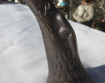 1979 Nelle's Bronze Eagle Head Paperweight