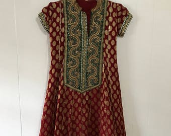 Vintage ethnic bohemian indian tunic dress