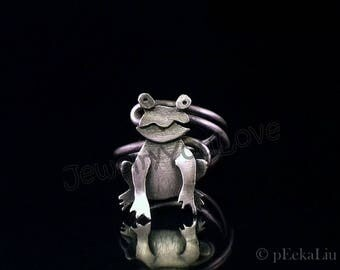 Sterling Silver Frog Ring - Prince