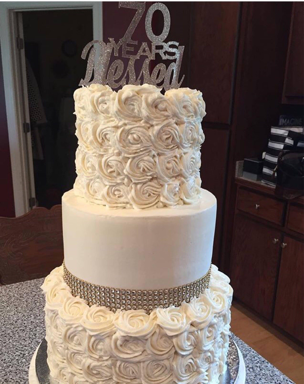 Bridal Shower Birthday Cake Topper Silver Glitter Birthday