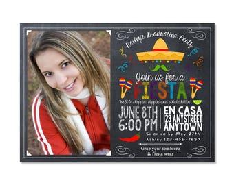 Fiesta Graduation Invitation with photo