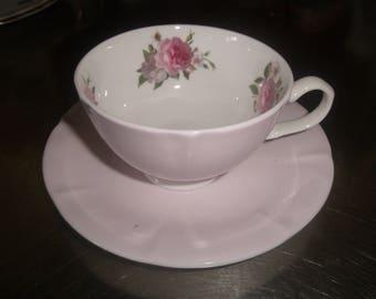 vintage bone china teacup tea cup saucer set stechcol pink floral
