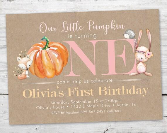 Little pumpkin birthday invitation little pumpkin first birthday il570xn filmwisefo