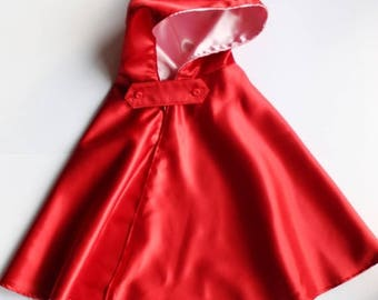 Little red riding hood cape, halloween costumes, baby girl costumes, girls costumes, riding hood dress, red cloak, girls cape, hood cape