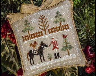 LITTLE HOUSE NEEDLEWORKS Farmhouse Christmas Horsin' Around #2 Stitch-A-Long SaL cross stitch patterns or Kit at cottageneedle.com