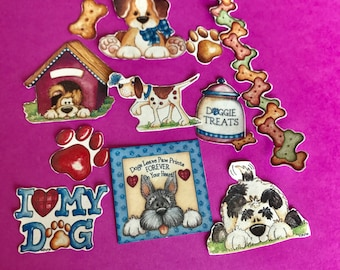 I Love My Dog 3 decorative planner stickers. Will fit MOST planners